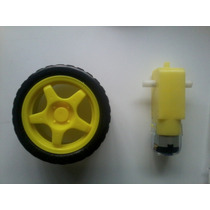 Motorreductor Y Llanta, Para Robot Seguidor , Arduino, Pic