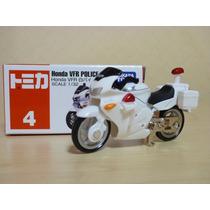 Tomica 4 Honda Vfr Police Bike 1/32