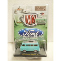 M2 Machines Auto Trucks 1965 Ford Econoline Camper Van Azul