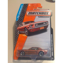 Matchbox De Coleccion 2015 Ford Mustang 68 Gt/gs Rojo Oxido
