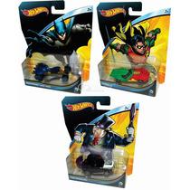 Hotwheels Dc Comics Batman Robin Pingüino 2015 Impecables !!
