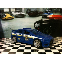 Mitsubishi Lancer Evolution X Police 2010 Matchbox Sueltos