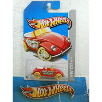 Hot Wheels Volkswagen Beetle Bocho Convertible Rojo 40/250