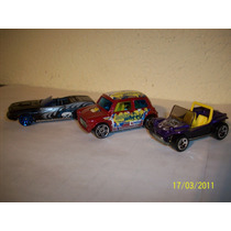 Hot Wheels Lote3 Coches Meyers Manx Morris Mini Barracuda 70