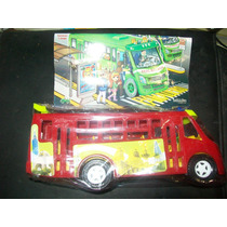 Gcg Camion Microbus Mexicano Rojo De Plastico 25 Centimetros
