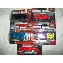 Gcg Lote Autos 3 Camiones Y 2 Vans Maisto Escala 1/64