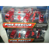 Gcg Lote Carritos Fire Rescue Micro Sistemz 2 Blisters