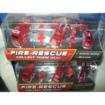 Gcg Lote Carritos Fire Rescue Micro Sistemz 2 Blister Bbf