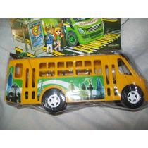 Gcg Camion Microbus Amarillo Mexicano Plastico 25 X 9 Centim