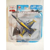 Maisto Fresh Metal Avion F/a 18 Hornet Azul/amarillo