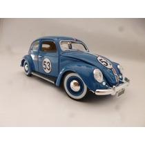 Vw Herbie Custom 1955 Vocho Esc: 1/18 Burago Metalico Azul