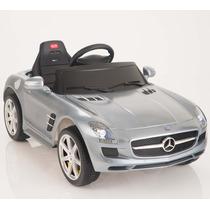 Carrito Eléctrico Mercedes Benz Sls Nuevo Modelo Gris Luces