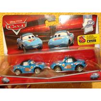 Disney Cars Pixar Dinoco Mia Y Tia Fan Del Rayo Mcqueen