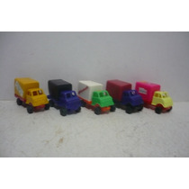 Camion Repartidor Set De 5 - Camioncito De Juguete Escala