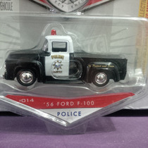 Jada Toys 56 Ford F-100 Policia, Badge City Heat Clasico