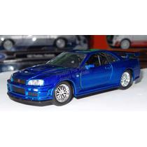 1:32 Nissan Skyline R34 Azul Rapido Y Furioso Jada C Caja