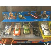 Set Hotwheels 5 Carros Star Wats Yoda Darth Luke R2-02 Storm