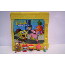 Bob Esponja Set De Juegoy Figuras Matchbox Maletin Mattel