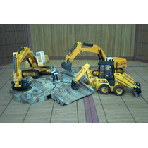 Lee Anunc X Lote 3 Retro Excavadora C Diorama 1/32 & 1/55