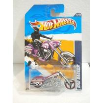 Hot Wheels Motocicleta Bad Bagger Morado 137/247 2012 Tl