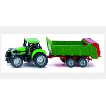 Tractor Deutz Con Surtidor De Abono Siku Esc. 1/87 Nuevo!