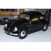 1:18 Volkswagen Classic Beetle 1950 Negro Welly Vw Vocho