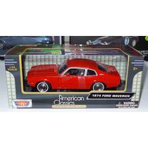 1:24 Ford Maverick 1974 Rojo Con Caja Motor Max