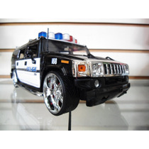 Hummer H2 2003 Police (negro / Blanco) - Jada - 1/24