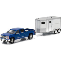 Greenlight Chevrolet Silverado Remolque Caballos Hitch & Tow