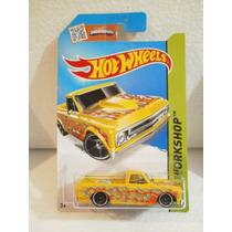 Hot Wheels Camioneta 67 Chevy C10 Amarillo 208/250 2015