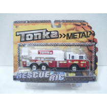 Tonka Rescue Rig Camion Bomberos Rojo Metal