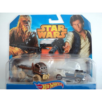 Hot Wheels Star Wars Chewbaccca-han Solo Exclusivo U.s.a