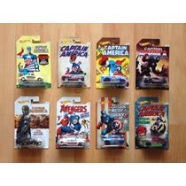 Set 8 Hot Wheels Capitán América Serie Completa 8/8 !!!