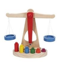 Niños Toy Equilibrio Escala W / Pesos De Madera