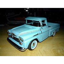 1:24 Chevrolet Apache 1958 Azul Pick Up Motor Max Display