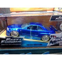 Nissan Skyline Gt-r (r34) 1:24 Rapidos Y Furiosos Jada Toys.