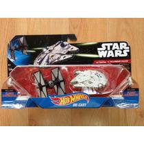 Hot Wheels Star Wars Millenium Vs Tie Fter The Force Awakens