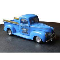 Ford Custom Pickup Truck 1940 Escala 1/24 Modelo De Armar