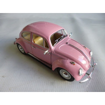 Vw Sedan 1967 Esc:1/24 Kinsmart Autos Escala Coleccion Rosa