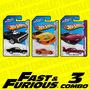 Hot Wheels Fast & Furious Rápido Y Furioso 3 Combo