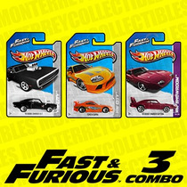 Hot Wheels Fast & Furious Rápido Y Furioso 3 Combo