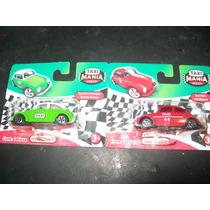 Gcg 1 Lote De 2 Vw Vochos Verde Y Rojo Taxi Mania Mexico Omm