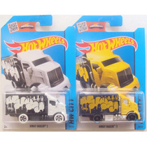 Hot Wheels 2015, Art Cars, Hiway Hauler, Set De 2 Variantes.
