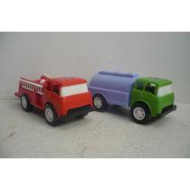 Camion Ford De Bomberos Y Pipa - Camioncito D Juguete Escala
