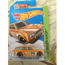 Ñu* Hot Wheels 71 Datsun Bluebird 510 Wagon (amarilla) 2015