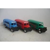 Autobus Escolar Set De 3 - Camioncito De Juguete Escala