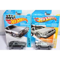 Hotwheels De Lorean, Volver Al Futuro Y Normal 2 Vehiculos