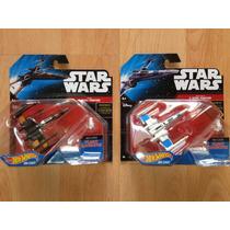 Set 2 Hot Wheels Star Wars Die Cast X-wing Fighter # 7 Y #14