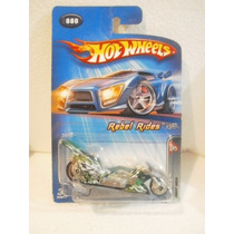 Hot Wheels Rebel Rides Motocicleta Fright Bike Verde#80 2005