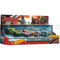 Hotwheels Avengers Vs Ultron 5 Pack De Lujo Auto Exclusivo !